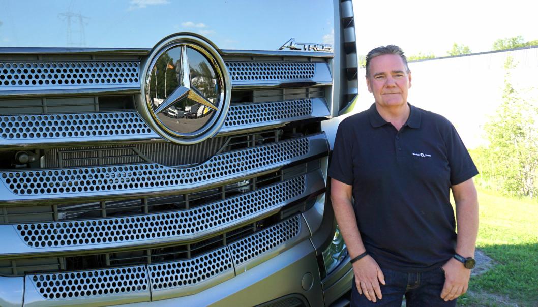 ANSVAR: Ole-Herman Løvstad er ansatt som regionsjef med ansvaret for lastebil- og bussverkstedene i Bertel O. Steens nye organisasjon.