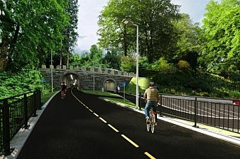 Veidekke skal bygge sykkelvei i tunnel