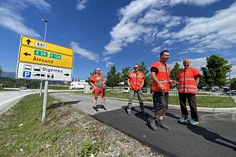 Deler opp E39 Ålesund-Molde i flere store og små kontrakter