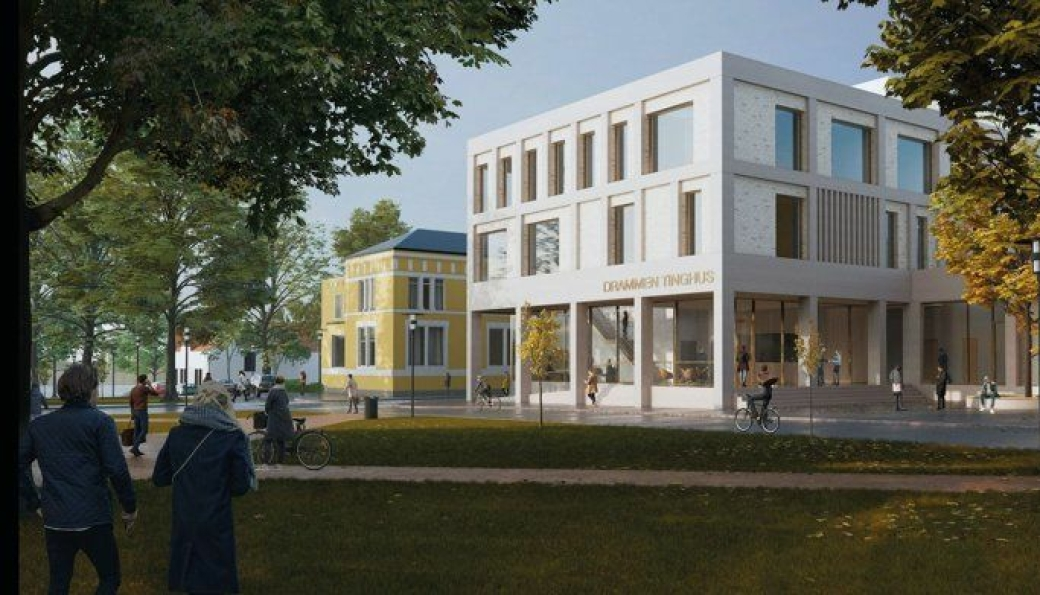Nye Drammen tinghus.