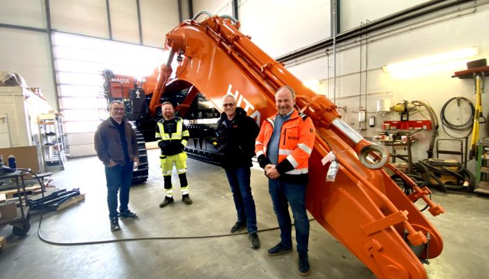 Fra venstre: Jostein Ytreland (V&S), Frode Gundersen (V&S), Bjarne Bøe (Nasta) og Vegard Gultvedt (Nast).