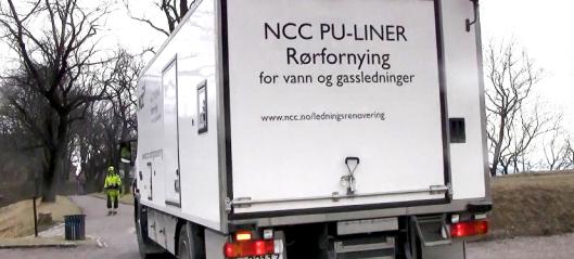 NCC med to nye kontrakter på gravefri rørfornying