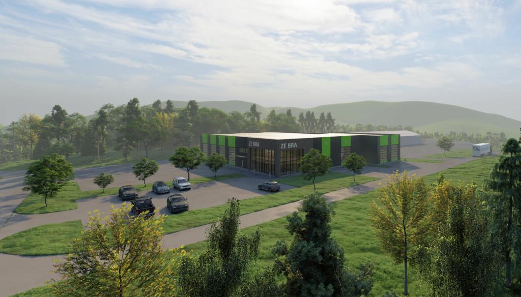 Slik blir Ze Bra vei sitt nye verksted- og servicebygget på Trysil. Illustrasjon: Arkitektlaget AS.