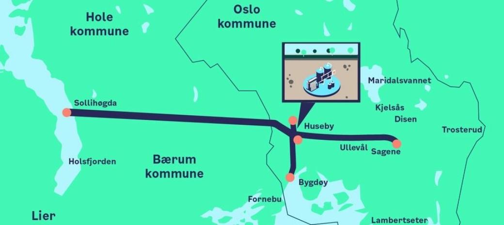 Prosjektillustrasjon Ny Vannforsyning Oslo.
