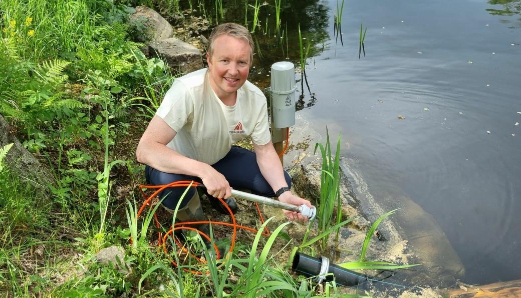 CTO Lars Krangnes leder prosjektet for kontinuerlig og automatisk overvåkning av drikkevann.