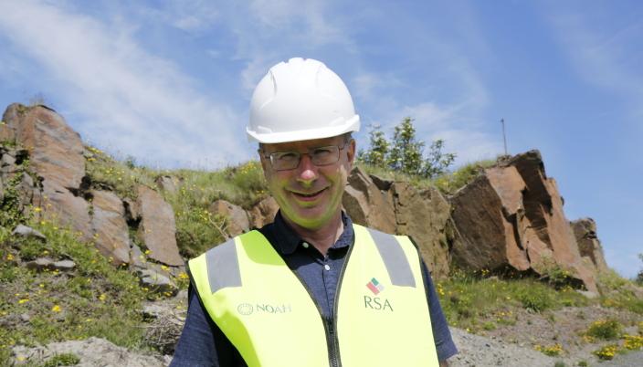 SPENNENDE: Daglig leder Egil Solheim i Rekefjord Stone har et spennende og langsiktig prosjekt foran seg.