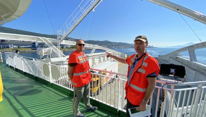 Utbyggingsdirektør Ove Nesje og prosjektleder Harald Inge Johnsen ser frem til anleggsstart på E39 Ålesund-Molde. Interessen for prosjektet er stor i anleggsbransjen.