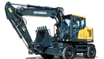 FØRSTE: Modellen Hyundai HW170ACR kommer som korthekkversjon, og første maskin til Norge er allerede solgt. Foto: Hyundai