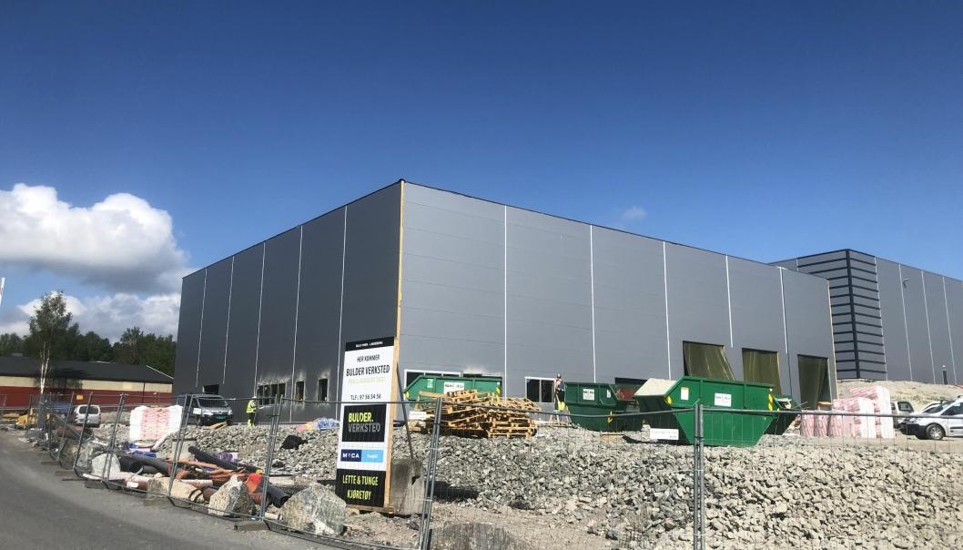 Bulders nye verksted på Lindeberg.