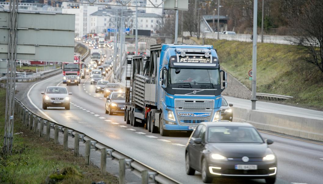 Illustrasjonsbilde av trafikk.