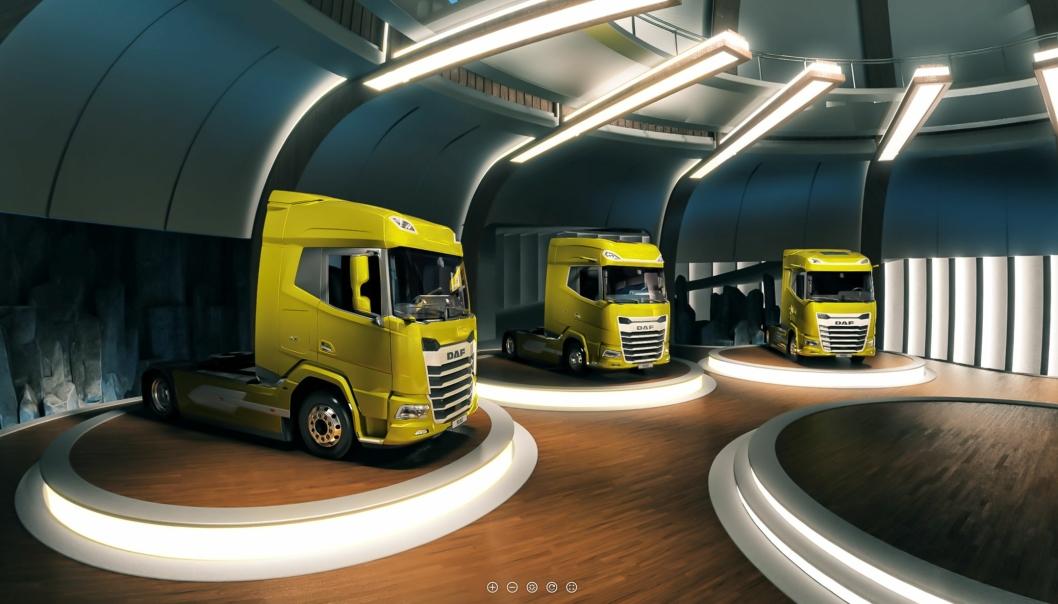 DAF Trucks vekker sin helt nye generasjon XF, XG og XG+ til live på datamaskiner og mobilenheter ved hjelp Augmented Reality og en virtuell opplevelse.