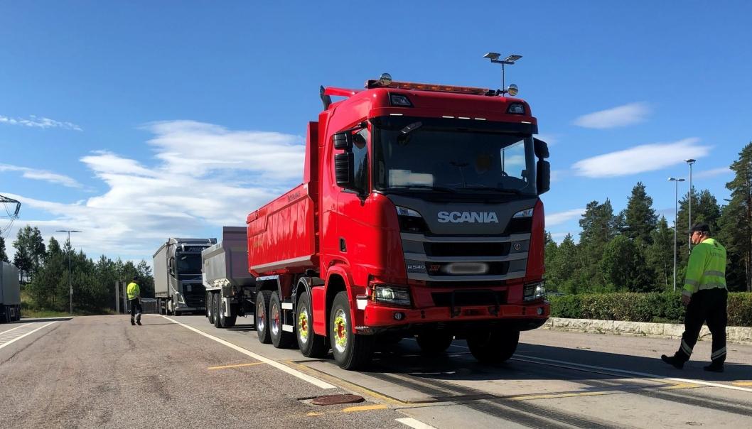 Kontroll på Taraldrud kontrollstasjon i Nordre Follo 1. juli 2021.