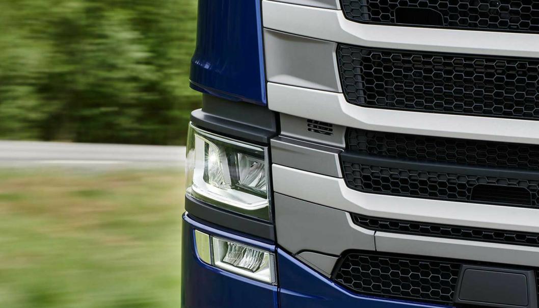 Scania har ikke noe ønske om å gå ut med bildedetaljer om de kommende nyhetene nå, så dette bildet er alt som er lagt ved pressemeldingen fra Scania.