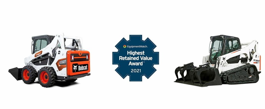 30 KATEGORIER: The EquipmentWatch HRV Awards deles ut i 30 kategorier. Bobcat stakk av med prisen i én av disse. Foto: Bobcat