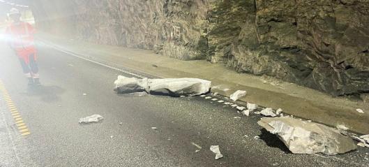 Statens vegvesen beklager steinnedfall i E39-tunnel
