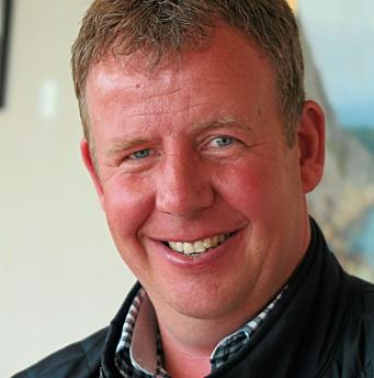 STOLT: Tommy Stangeland, daglig leder i Stangeland Maskin. Foto: Bjørn Eriksen