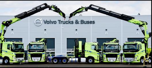 Fem Volvo kranbiler til 25 mill. til Kynningsrud