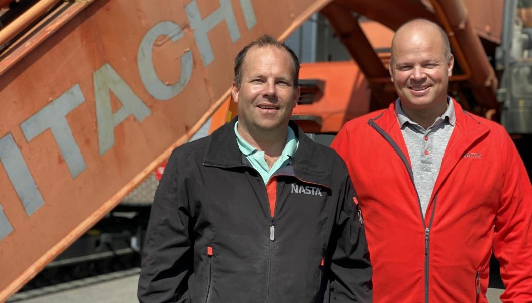 Tore Sagstuen (t.h.) vil sammen med Espen Andersen være ansvarlig for salg av bruktmaskiner hos Nasta.