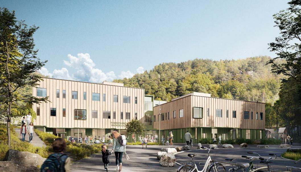 Den nye skolen skal stå ferdig til skolestart i 2023.