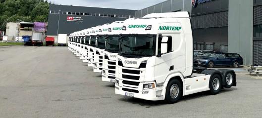 Tolv nye Scania-trekkvogner til Nortemp Transport