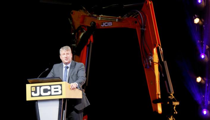 UTVIKLER: Innovasjonssjef Tim Burnhope, sier JCBs løsning raskt kan komme i produksjon og være tilgjengelig for kunder. Foto: Klaus Eriksen