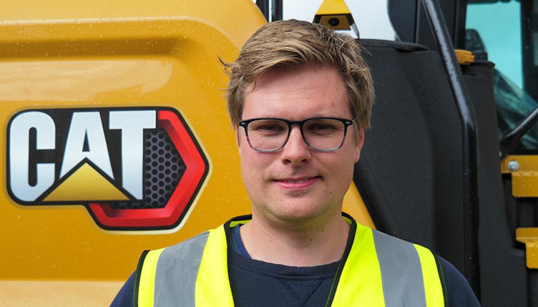 Sondre Karlsen er ny produktsjef for slitestål og understell hos Pon Equipment Norge.
