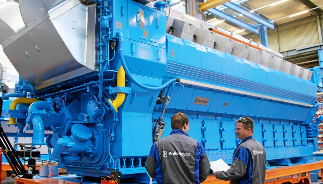 MOTORER: Bergen Engines produserer motorer og har mer enn 900 ansatte, hvorav 650 ved hovedfabrikken i Hordvikneset i Bergen. Foto: Rolls Royce