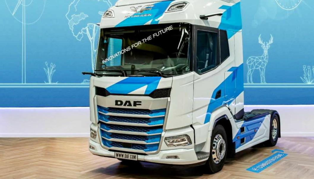 FORBRENNINGSMOTOR: Med hydrogen som energikilde jobber DAF med å utvikle en forbrenningsmotor som er CO2-utslippsfri.