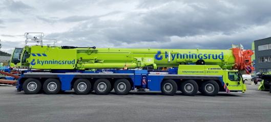 Kynningsrud har kjøpt landets største mobilkran fra Liebherr