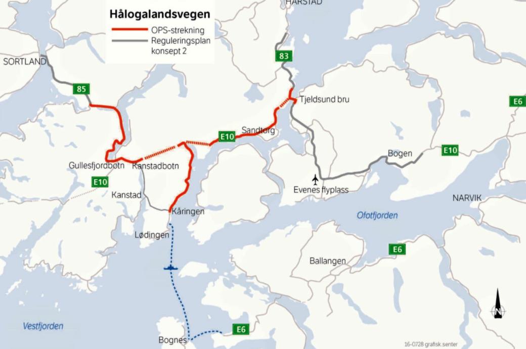 OPS-Prosjektet E10 Hålogalandsvegen.