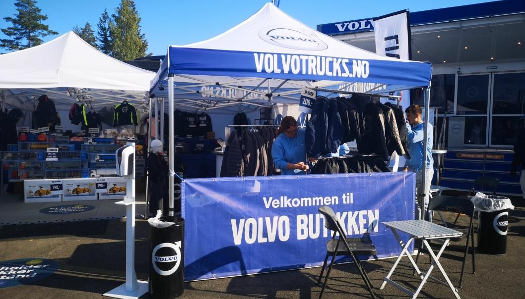 Volvo er massivt på plass. Her bilde fra Volvo-butikken.