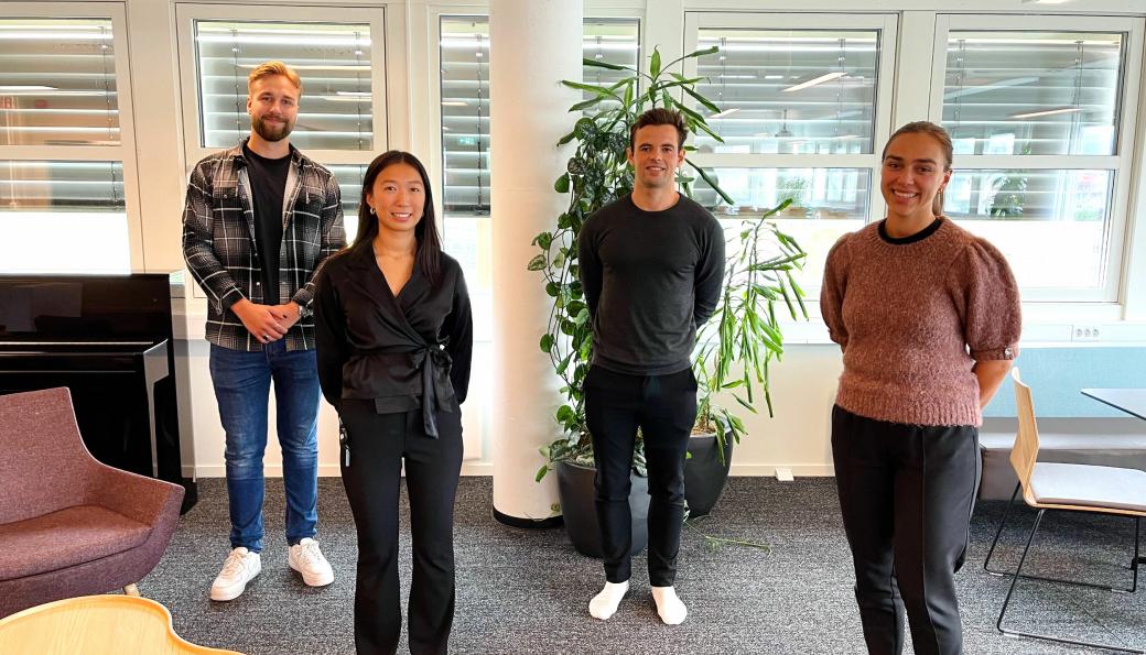 Fra venstre: Ola Markussen, Lina Flo Hauge, Fredrik Rian og Ingrid Hollås Gauteplass.