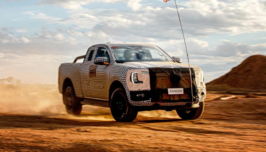 Ford har offentliggjort dette bildet av en maskert neste generasjons Ranger.