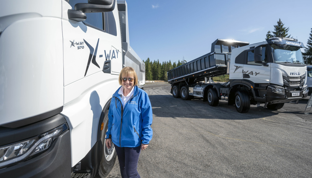 ANLEGG: Mange anleggskunder skal ut å prøve de nye demobilene av både X-Way og T-Way som Helene Normann-Dupuy og Iveco nå får inn.