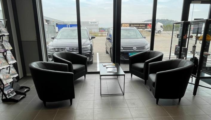 Ny sittegruppe for kunder.
