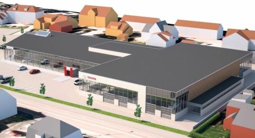 Bygger nytt storanlegg for Toyota i Porsgrunn