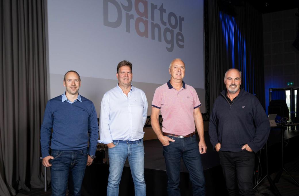 Sartor & Drange. Fra venstre: Arild Bøthun, Rune Grimstad, Jan Drange og Kåre Bjorøy.