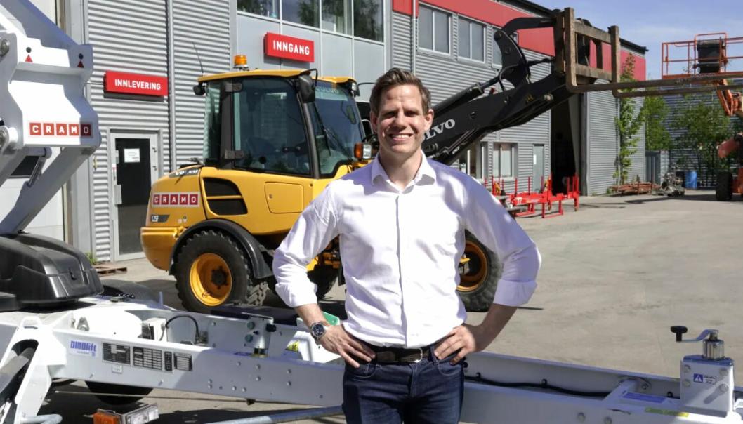Thomas Astrup, administrerende direktør i Cramo, er selvfølgelig godt fornøyd med å bli valgt av Peab, i konkurranse med andre tilbydere av leiemaskiner.