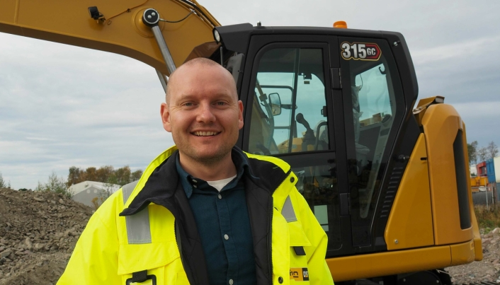 Vi har stor tro på Cat 315 GC i markedet, sier Marius Halnes, produktsjef for Cat-gravemaskiner hos Pon Equipment AS.