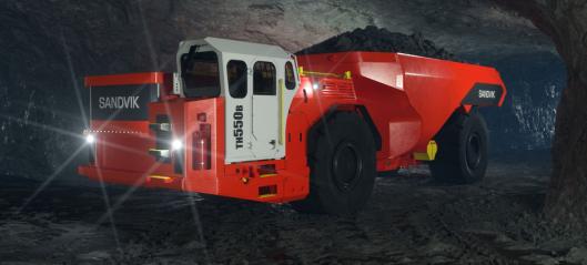 Sandvik lanserer ny 50 tonn batterielektrisk dumper