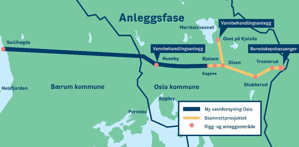 Oslo kommune bygger nye vannforsyningstunneler for å forsyne byen befolkning med rent drikkevann. Rambøll skal gjennomføre tilstandsregistrering for bygninger og konstruksjoner knyttet til anleggsarbeidene.
