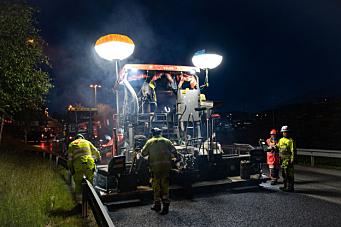 Rv. 13 ved Myrkdalen får ny asfalt denne uken