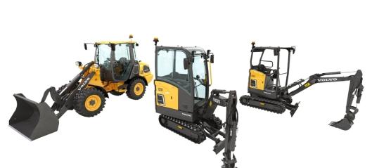 Tre nye elektriske maskiner fra Volvo CE